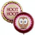 Owl Pink Foil Balloon 